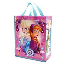 Disney Store FROZEN Elsa Princess Anna & Olaf Pink Bag Girls Christmas Tote NWT