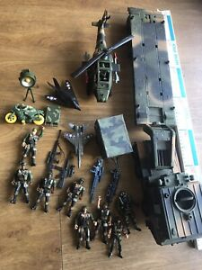 Large Bundle Soldier Army Military Helicopter Figure Vehicle