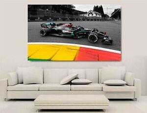 Canvas Wall Art - Lewis Hamilton Mercedes F1 2020