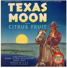 *Original* BUCKAROO Apple COWBOY HORSE Mojonnier Trimmed Crate Label NOT A COPY!