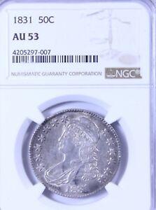 1831 Capped Bust Half Dollar : NGC AU53