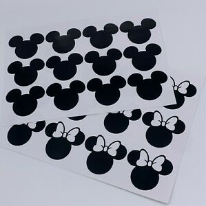 x24 Minnie mouse and Micky mouse Disney vinyl decal bedroom wall stickers 0311