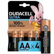 4 Duracell Ultra Power AA Alkaline Batteries Pack.