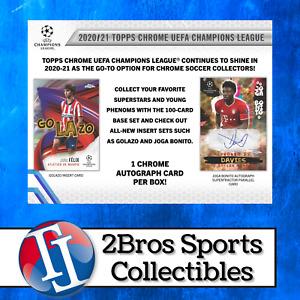 20-21 UEFA CL Chrome 6 Hobby Box Half Case Break 6/18 2pm CST - Barcelona