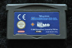 2 In 1 Games Monster en Co , Finding Nemo Gameboy Advance Card Only