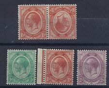 SOUTH AFRICA KING GEORGE V : STAMPS WITH INVERTED WATERMARKS SEE SCANS.