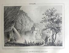 CATALUÑA, ERMITA DE SAN MIGUEL DELFAY, Lit. original de Parcerisa 1839-1865