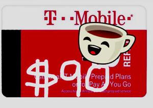 T-Mobile Prepaid Refill $90