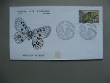 ANDORRA, cover FDC 1987, butterfly