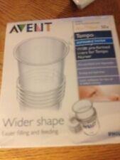 Avent Wider Shape Liners For Tempo Nurser 50-4 Oz Liners New