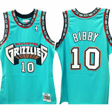 Men's Vancouver Grizzlies Mike Bibby 10 Mitchell & Ness NBATeal Swingman Jersey