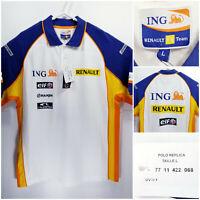 NWT ING Renault F1 Team Official Mens Large Polo Replica Shirt elf Bridgestone