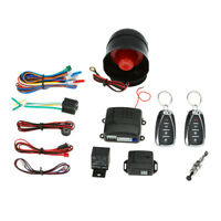 Universal Vehicle Car Security Alarm System Kit Anti-theft + 2 Remote Controller
