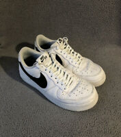 Nike Air Force 1 Low 07' Mens Trainers UK Size 10 White Black Suede Swoosh Tick