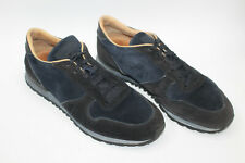 TOD'S men shoes sz 10 Europe 43 BLUE SUEDE leather S8139