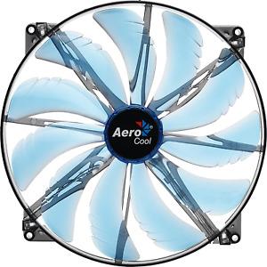 AeroCool Silent Master 200mm Blue LED Cooling Fan EN55642 Case Fan Silent Fan