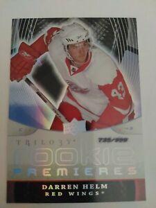 2008-09 Upper Deck Trilogy Rookie 137 Darren Helm 735/999 Detroit Red Wings