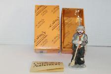 "Flambro Emmett Kelly Jr. Sweeping Up Miniature Collection w/Box, Coa, 4.75"""