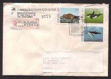 Portugal B-65 Cover 1983 Registered 3v Marine Fauna Fishes Whales  Seal