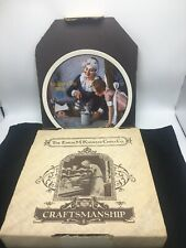 "Norman Rockwell Mothers Day 1982  Collector Plate  ""The Cooking Lesson"""