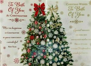 TO BOTH OF YOU CHRISTMAS CARD  ~ CHOICE OF 2 TREE DESIGNS ~ QUALITY CARD