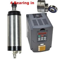 Four Bearing 100mm 3KW Water-cooled Spindle Motor and 3KW HY Drive Inverter VFD