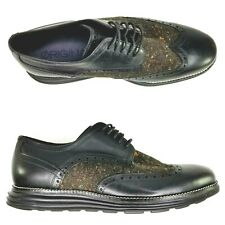 Cole Haan OriginalGrand Wingtip Oxfords Mens Size 8.5 Shoes Black SAMPLE RARE