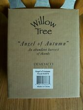 Willow Tree Figurine Angel Of Autumn 2001 with Box Girl Holding Wheat Straw