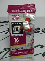 2020 Donruss Optic Baseball MLB Cello Fat Value Pack w/4 Lime Green Parallels