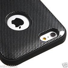 "iPhone 6 Plus 5.5"" Hybrid Multi-Layer Case Skin Cover Carbon Fiber Print"