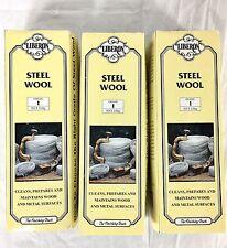 Liberon Grade 1 Steel Wool 250g 1/2 lb Roll Wood Metal Lot Of 3 New