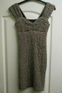 BNWOT SIZE 8 BY RARE LADIES TAUPE TEXTURED BODYCON DRESS