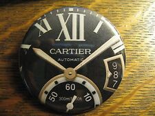 Cartier Automatic Black Multi Dial Watch Advertisement Pocket Lipstick Mirror