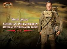 """DID WWI American Infantry Expeditionary 1/6 Scale 12"""" Buck Jones Special 11010S"""