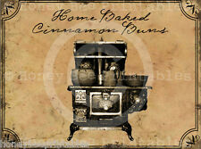 Primitive Grungy Kitchen Pantry Labels - Old Stove Home Baked Cinnamon  #12925