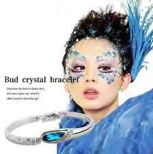 Sterling silver bangle bracelet blue sky Swarovski Elements Crystal Gift Box B9