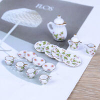 1:12 Doll House furniture tableware 15 PCS dolls ceramic miniature tea sets SE