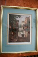 "JAMES McCAFFERY ""The Walled Garden"" Art Print LTD Edition 58B/750 New Orleans LA"