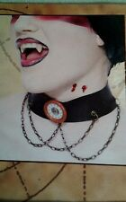 Gothwork Steampunk Costume unisex Halloween Necklace  With dangle chains New