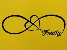INFINITY FAMILY LOVE HEART INFINITY FOREVER SYMBOL Vinyl Sticker Wall Home Love