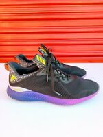 Adidas Alphabounce Core Black Shock Purple Running Shoes B42351 Mens Size 10.5