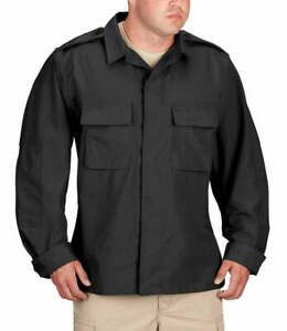 PROPPER BDU LONG SLEEVE 2 PKT SHIRT, SIZE: XS/R, BLACK F545238001 NEW WITH TAGS