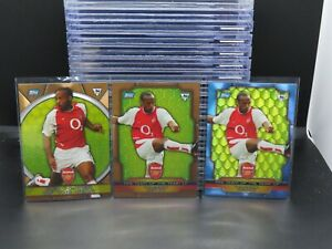 (3) Lot 2004 Topps Premier Gold Thierry Henry Blue + Bronze Foil Arsenal G52