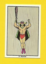 Mighty Mightor Vintage 1970s Hanna Barbera Cartoon Card from Spain