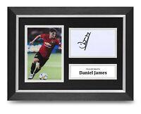 Daniel James Signed A4 Framed Photo Display Man Utd Autograph Memorabilia COA