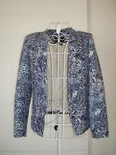 H&M womens blazer size UK 10 EU 38 blue