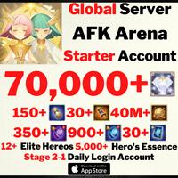[GLOBAL/IOS] 70000+ DIAMONDS | AFK ARENA STARTER ACCOUNT