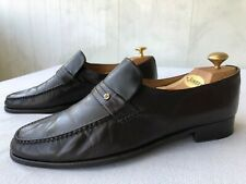 Moreschi Made in Italy brown leather loafer shoes