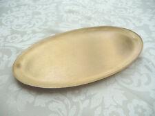 Kerzenteller Taufkerze/Kommunionkerze oval 17x10 gold