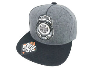 New Kids Youth Star Wars BB-8 Hat Gray Black Official Licensed Snapback